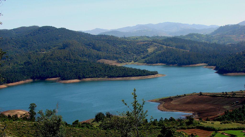Lake in Nilgiri Hills near Ooty