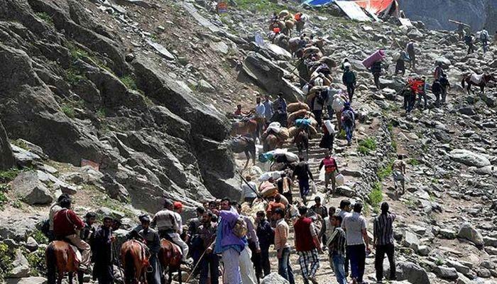 Pilgrims move ahead to Amarnath Cave