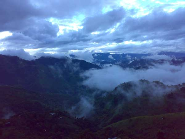 Phawngpui. The highest peak in Mizoram