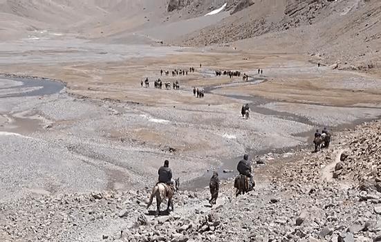 Pilgrims crossing Inner Kora