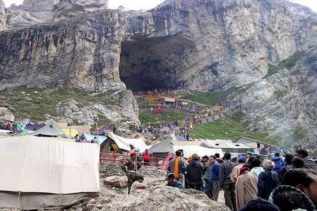 Amarnath Cave in Kashmir