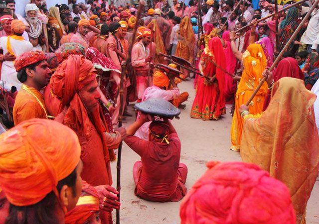 Lathmar Holi in Barsana