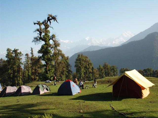 Camping in Chopta, Uttarakhand