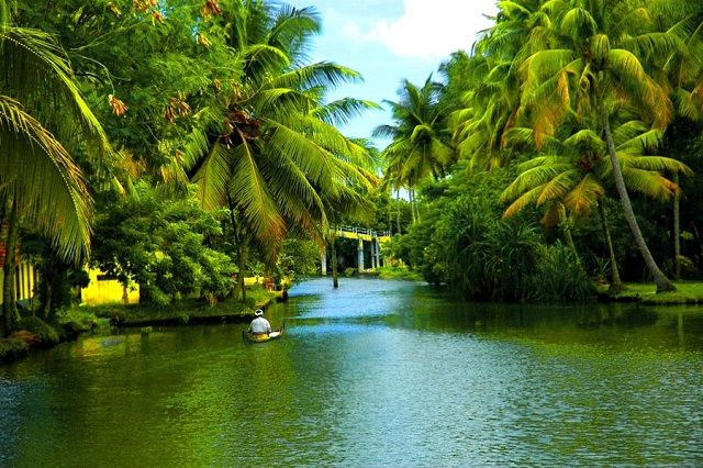 Backwaters of Alappuzha in Kerala