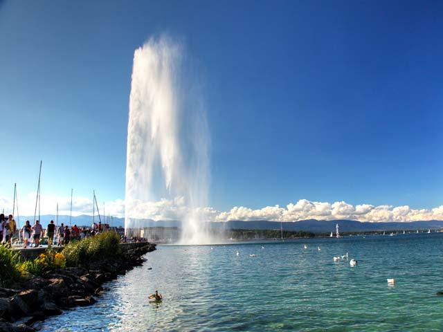 Jet d'Eau Fountain in Switzerland