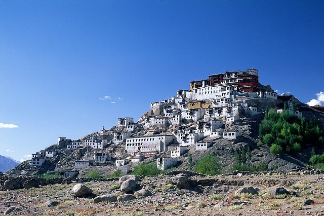 View of Thikse Monastery in Ladakh