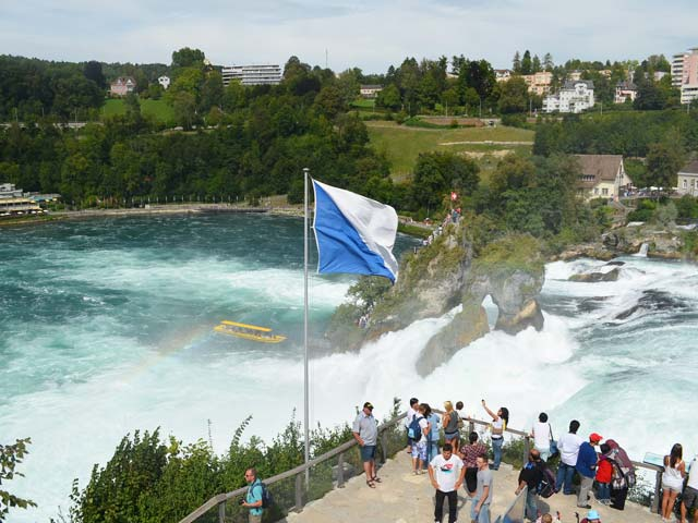Rheinfall Waterfall in Switzerland