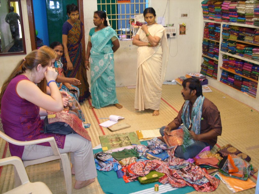Shopping in Kanchipuram