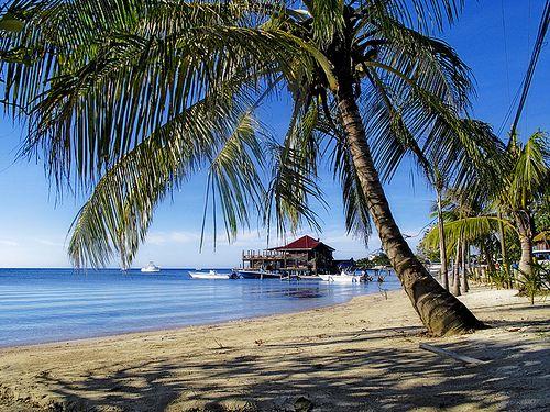 Beachside view of Honduras