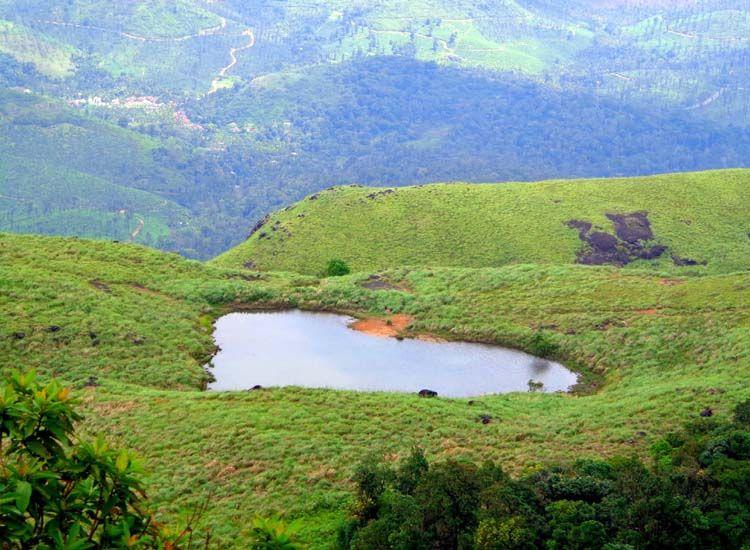 Heart shaped lake in Wayanad