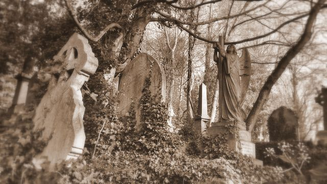 High gate Cemetery - A popular cemetery in North London which scores among the haunted places in United Kingdom.