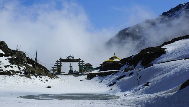 Sela Pass - the high-altitude mountain pass located in Tawang District of Arunachal Pradesh state of India.