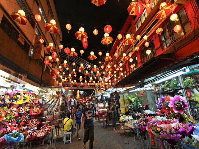 Chinatown market in Malaysia