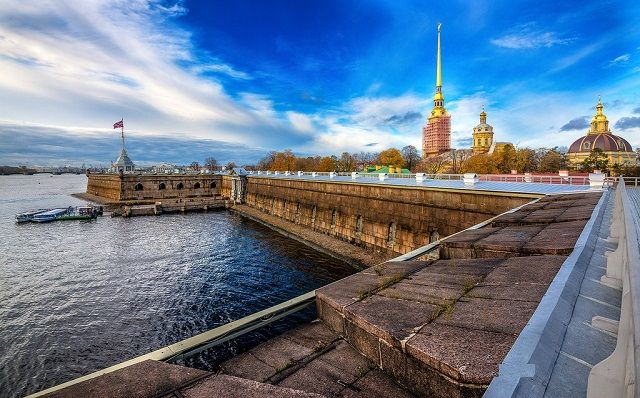 Peter and Paul Castle in St. Petersburg, Russia
