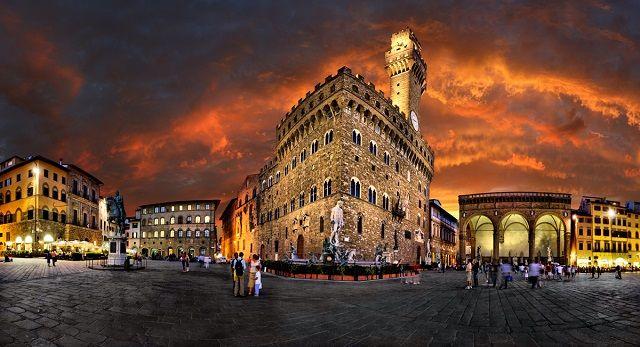 Piazza della Signoria in Firenze, Italy