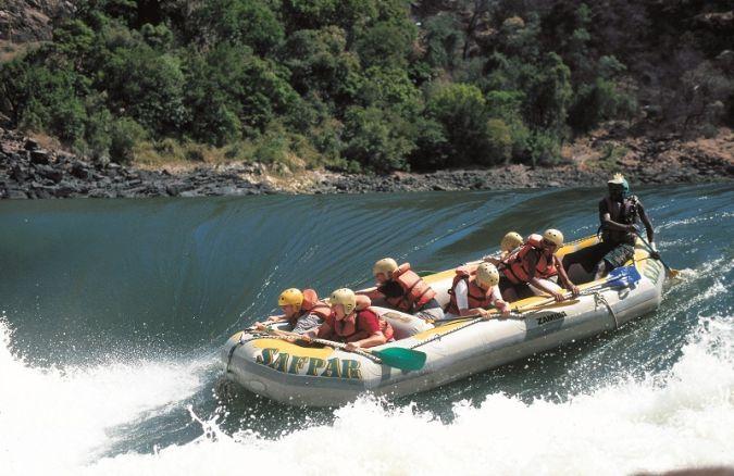 Zambezi River falls in Zimbabwe