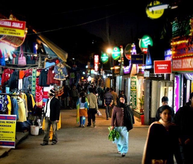 Mall Road in Darjeeling