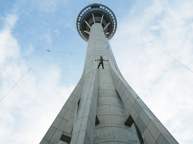 Sky Jumping from the Macau Tower