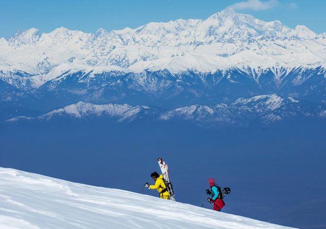 Skiing in Pahalgam