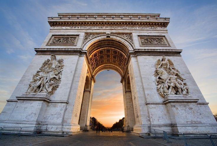 Arc de Triomphe Monument in Paris