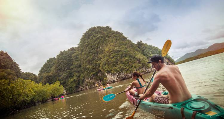 Kayaking in Thailand