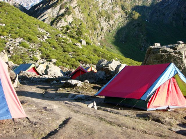 Camping in Solang Valley, Gujarat