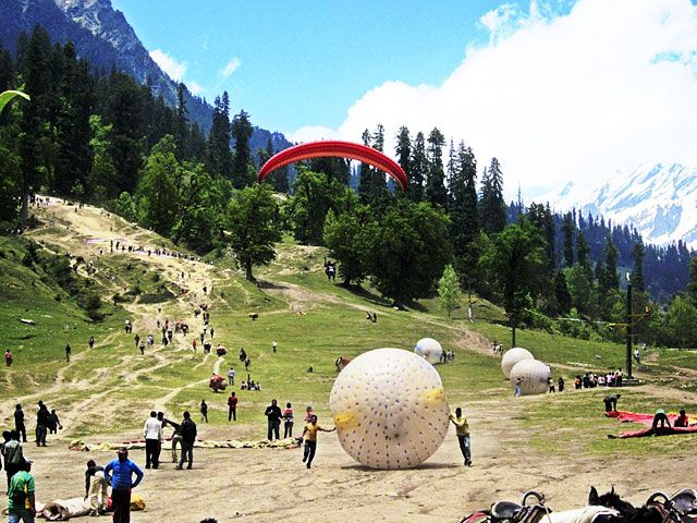 Zorbing Adventure activity in Manali