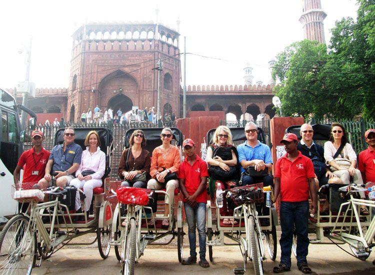 Rickshaw Ride at Jama Masjid