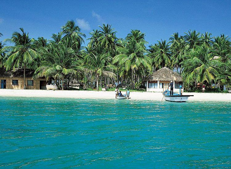 Agatti Town in Lakshadweep Islands