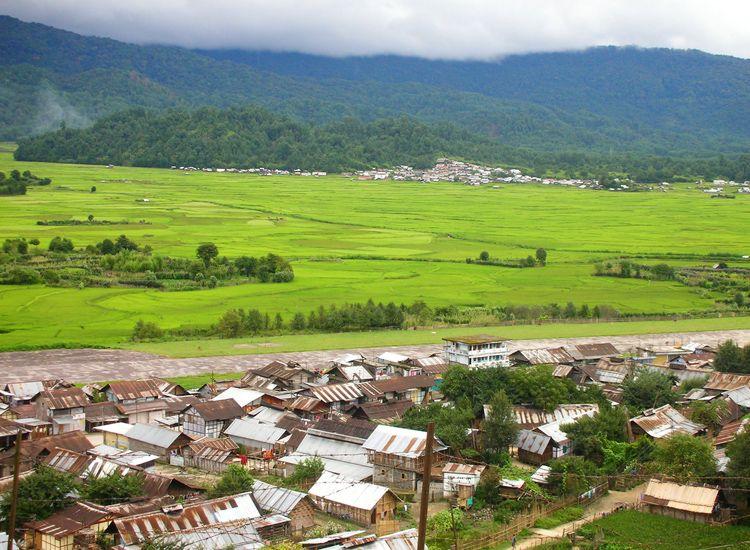 Ziro Valley Town in Arunachal Pradesh