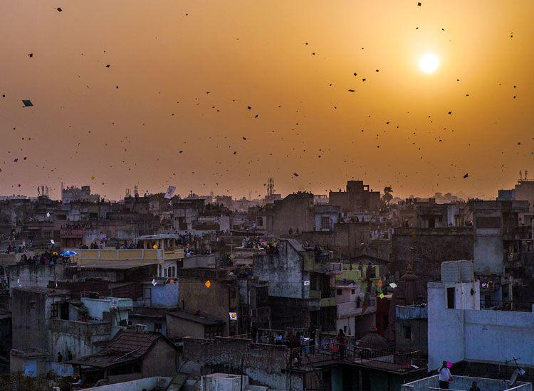 Kite flying festival in Rajasthan