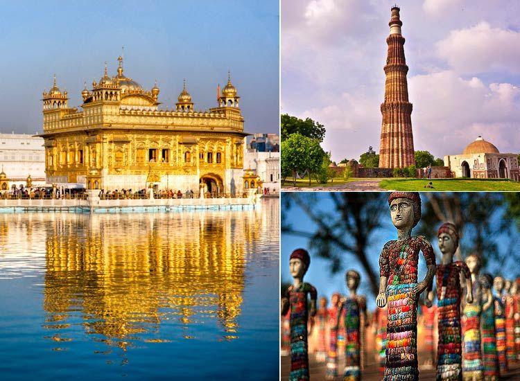 Delhi Chandigarh Amritsar Tour Circuit