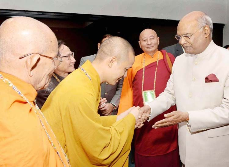 President of India draws parallel between Buddhism and Tourism