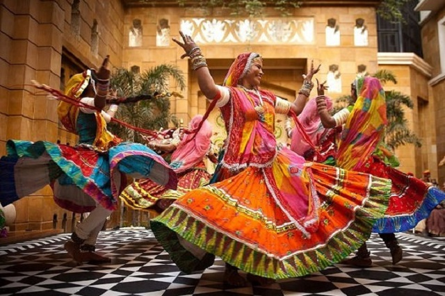 Ghoomar is a traditional folk dance of Rajasthan