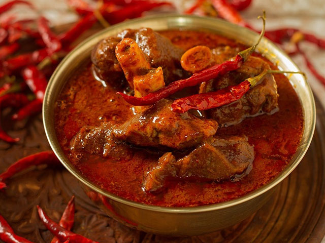 Laal maans is a meat curry from Rajasthan