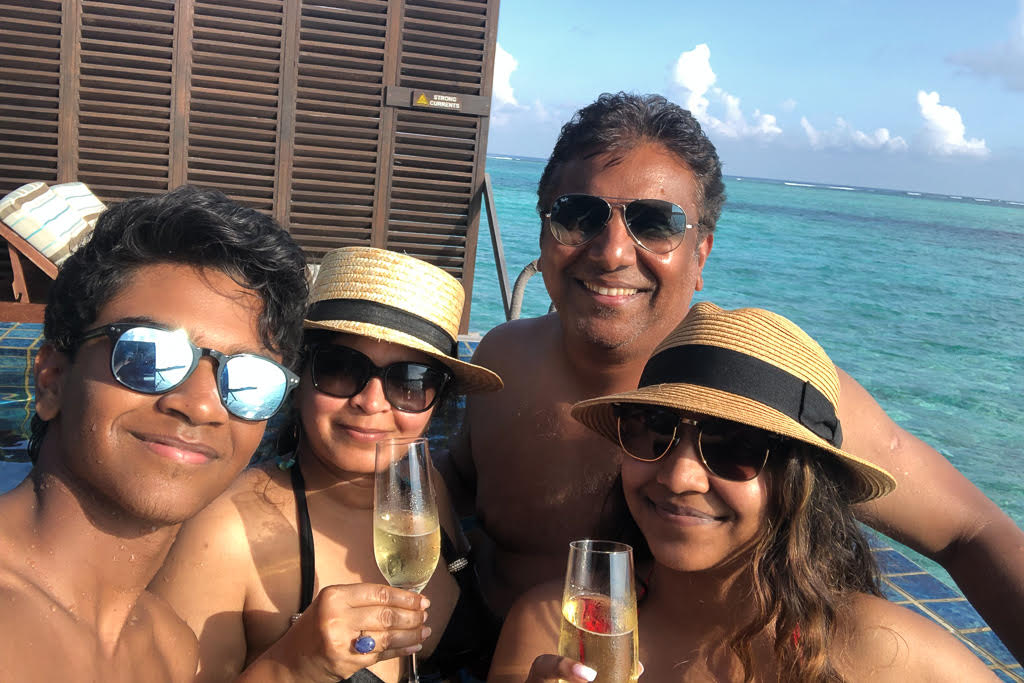 family holiday in Maldives