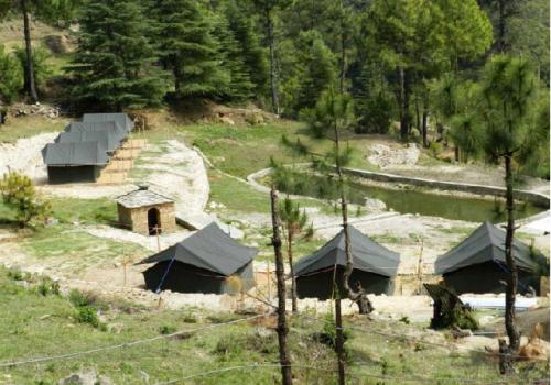 camping in kausani