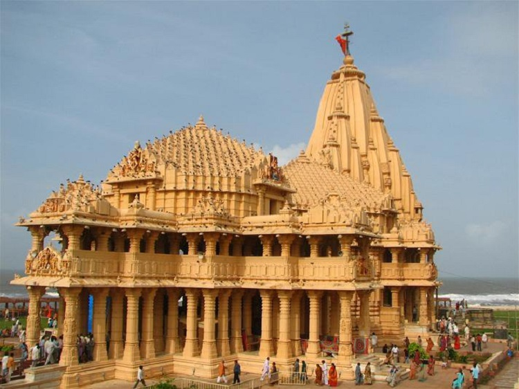 Front view of the present Somnath Temple, Gujarat
