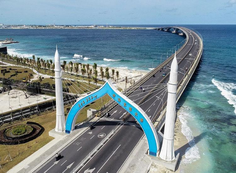 Sinamalé Bridge in Maldives