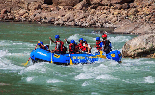 rafting in rishikesh in june in India