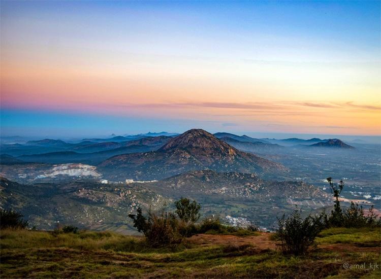Nandi Hills Near Bangalore in April