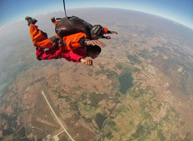 Skydiving at Narnaul, Haryana