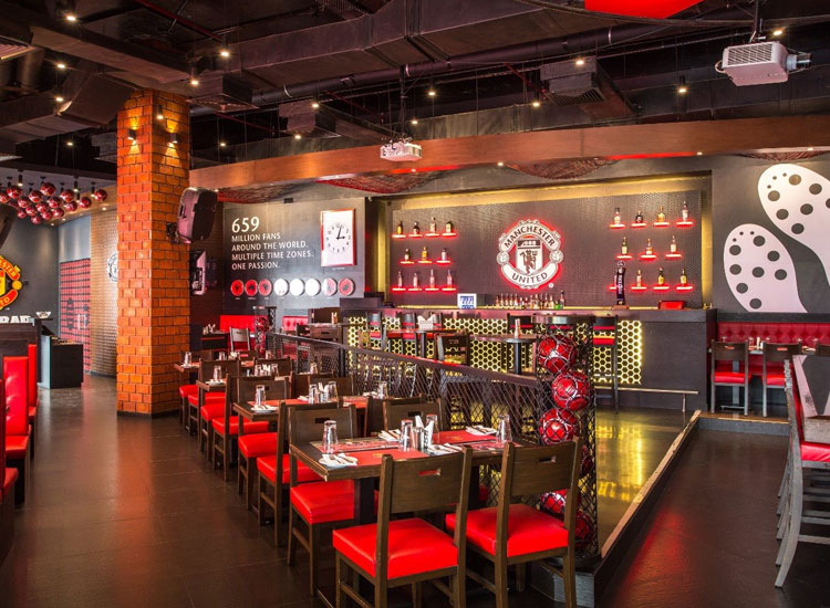 Manchester United Cafe in Mumbai