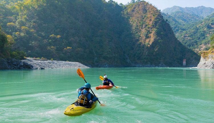Kayaking at Rishikesh, Uttarakhand