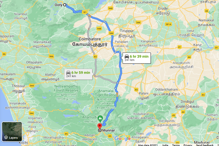 ooty-to-munnar-distance-by-road