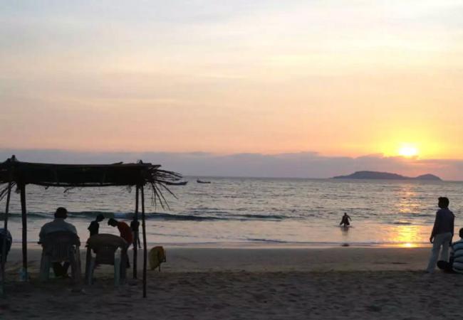 Bogmalo Beach in south goa