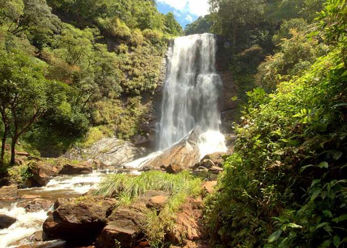 Enjoyment at Hebbe Falls in Karnataka