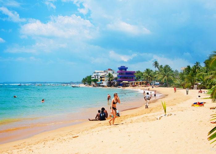 Hikkaduwa Beach in Sri Lanka